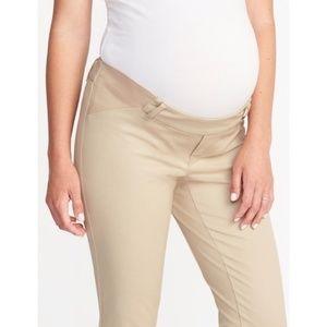 Tan Maternity Pixie Pants